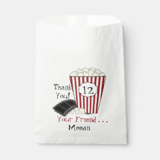 Show Time Popcorn Theme Favor Bag