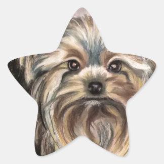 Show Yorkie Abby Star Sticker