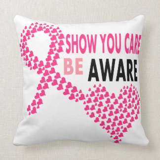Show You Care Be Aware Breast Cancer Awareness Pillow