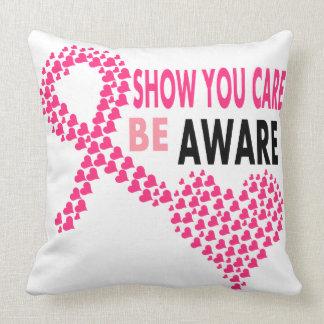 Show You Care Be Aware Breast Cancer Awareness Throw Pillow