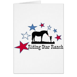 Show you support with the Riding Star Ranch Logo Card