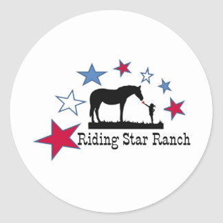 Show you support with the Riding Star Ranch Logo Classic Round Sticker
