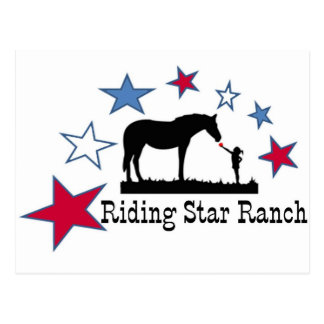 Show you support with the Riding Star Ranch Logo Postcard
