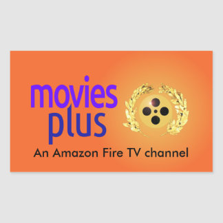Show your a Movies Plus fan on your stuff, bumper Rectangular Sticker