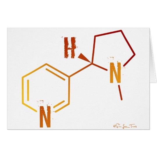 Show Your Addiction - Nicotine Molecule Card
