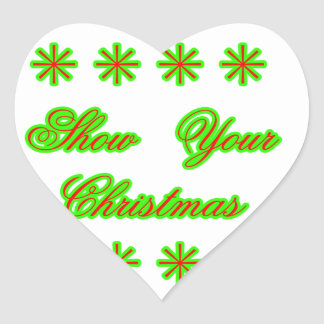 Show Your Christmas jGibney The MUSEUM Zazzle Gift Heart Sticker