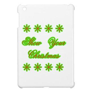 Show Your Christmas jGibney The MUSEUM Zazzle Gift iPad Mini Covers