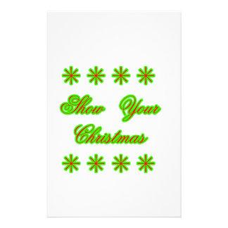 Show Your Christmas jGibney The MUSEUM Zazzle Gift Stationery