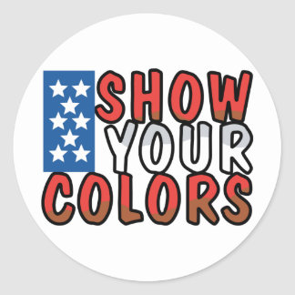 Show Your Colors Classic Round Sticker