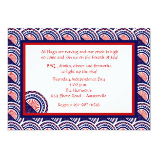 Show Your Colors Patriotic Invitation