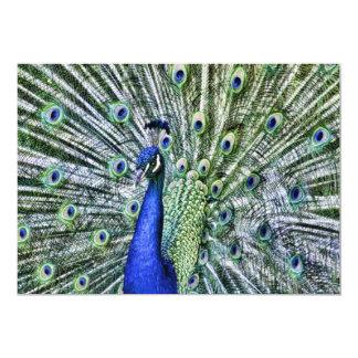Show Your Colors Peacock Garden Party Card