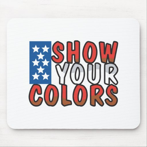 Show Your Colors USA Design Mouse Pad