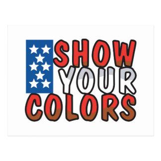 Show Your Colors USA Design Postcard