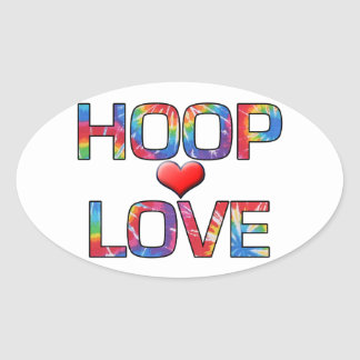 Show your Hoop Love! Oval Sticker
