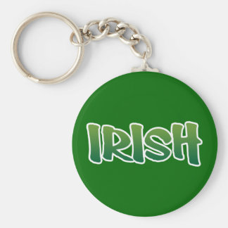 Show your IRISH colors Basic Round Button Keychain