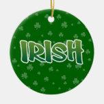 Show your IRISH colors Christmas Tree Ornaments