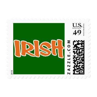 Show your IRISH colors Postage