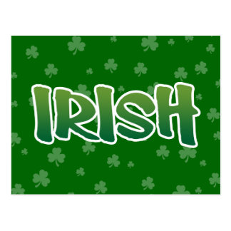 Show your IRISH colors Postcard