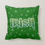 Show your IRISH colors Throw Pillow