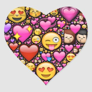 Show your love and affection through Emoji-art Heart Stickers