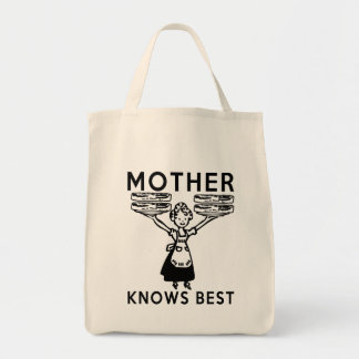 Show your love for mom and bacon this Mother's Day Grocery Tote Bag