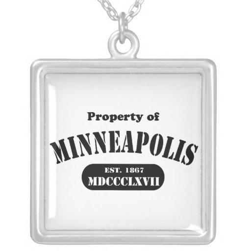 Show Your Minnesota Pride! Square Pendant Necklace