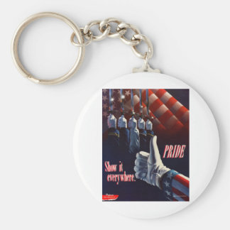 SHOW YOUR PRIDE IN OUR MILITARY KEYCHAIN