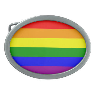 show your pride oval belt buckle