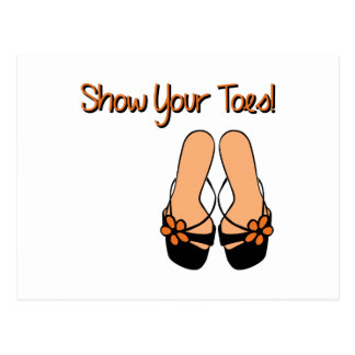 Show Your Toes Postcard