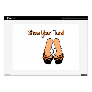 """Show Your Toes 15"""" Laptop Skins"""