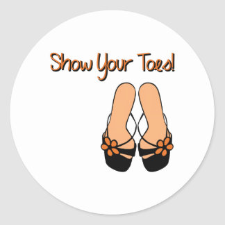 Show Your Toes Stickers