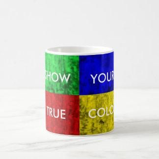 Show Your True Colors Basic Colors Woodgrain Bloc. Coffee Mug