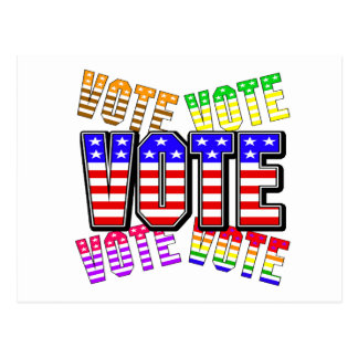 Show your true colors - Vote Postcard