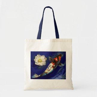 Showa Koi y bolso de Lotus Bolsas De Mano