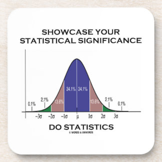 Showcase Your Statistical Significance Statistics Beverage Coasters