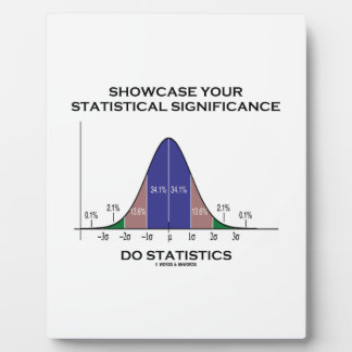 Showcase Your Statistical Significance Statistics Photo Plaque