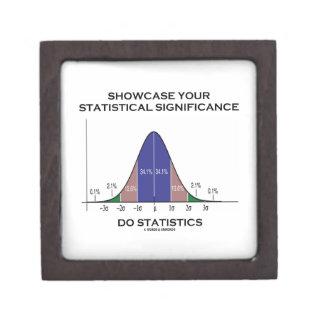 Showcase Your Statistical Significance Statistics Premium Jewelry Box
