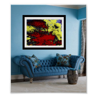 Showcasing Art: SPILLED COLORS Poster