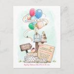 Shower By Mail Virtual Baby Shower Balloon Mailbox Invitation Postcard