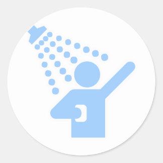 Shower Classic Round Sticker