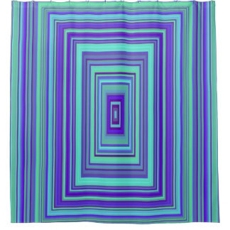 Shower Curtain Blue Purple Green Rectangle Gateway