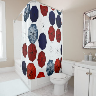 Red White Blue Shower Curtains | Zazzle