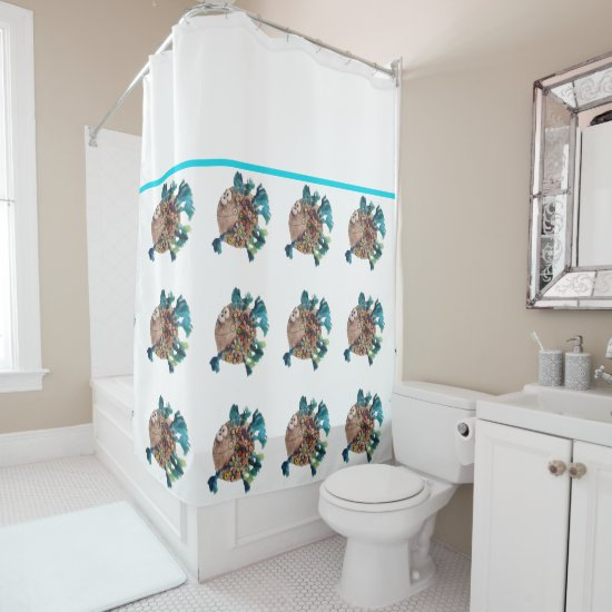 Shower Curtain - BlueFinned Fish
