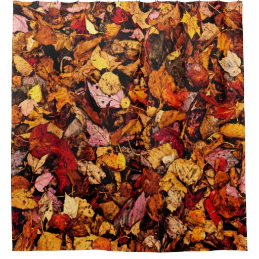 Shower Curtain FALL LEAVES Shower Curtain