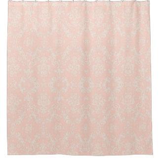 Shower Curtain  floral saumon