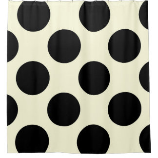 Cream And Black Shower Curtains | Zazzle