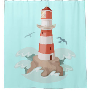 Lighthouses Shower Curtains