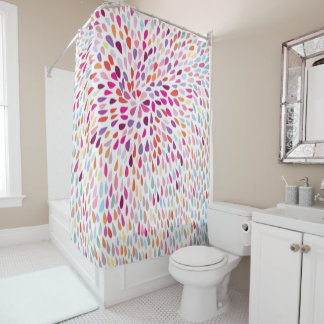 Shower Curtain/ Multi Color Splash Shower Curtain