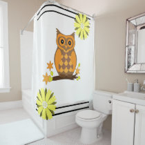 Shower Curtain Owl