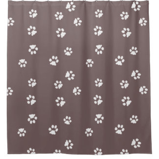 Shower Curtain Pattes Blanche/Marron